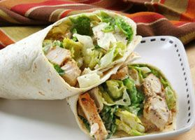 If you are tired of the same boring sandwich for lunch, try this restaurant-style wrap. Use cooked rotisserie chicken from your grocery store to save time.