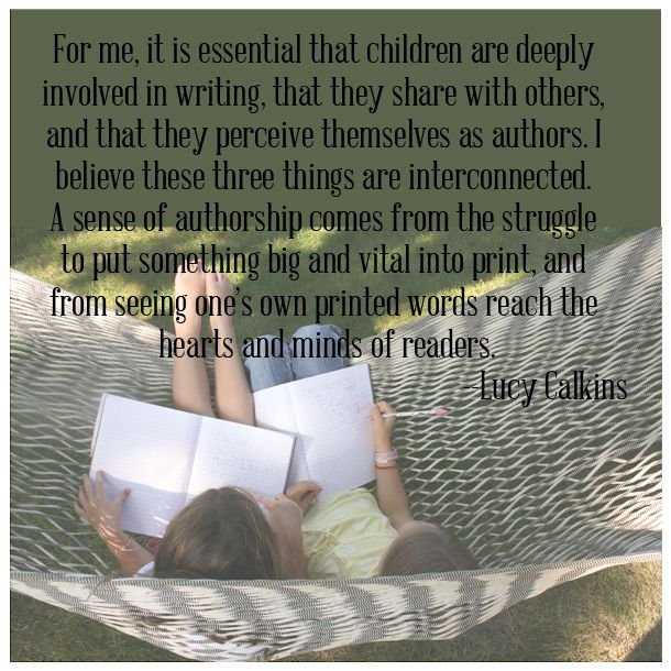 Food for Thought: Nurturing Young Authors...