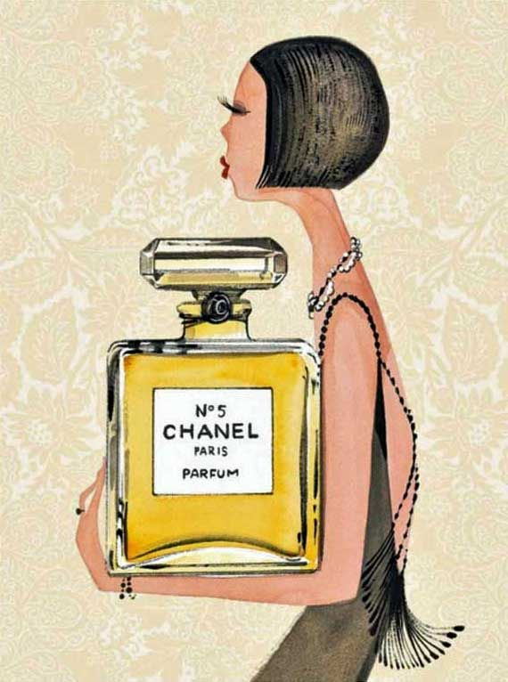 Could there be anything prettier than this selection of Chanel No. 5 illustrations? Added bonus: they are all priced at under $50!