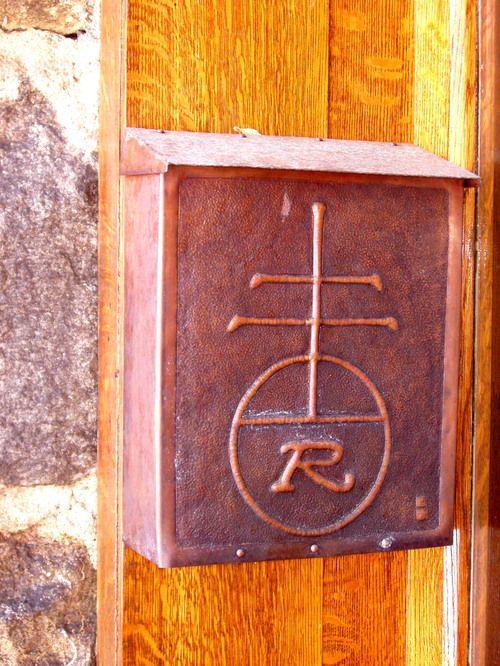 Roycroft copper mailbox.