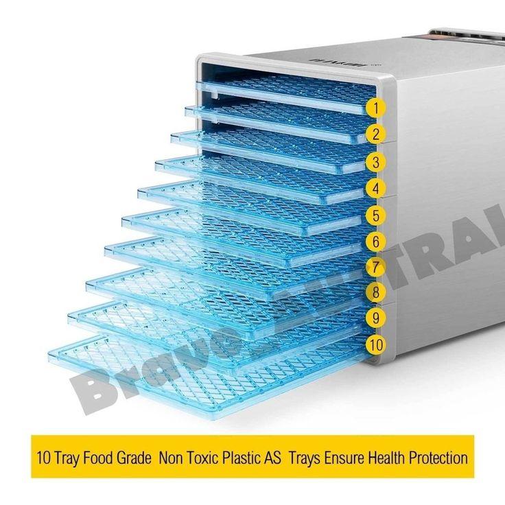 10 Tray Food Dehydrator Homel Preserve Yogurt Fruit Dryer Beef Jerky Maker