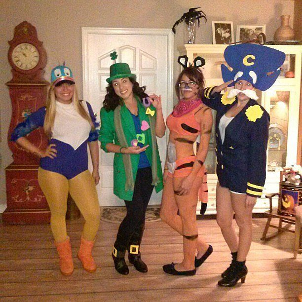 Toucan Sam, Lucky Charms Leprechaun, Tony the Tiger, Captain Crunch