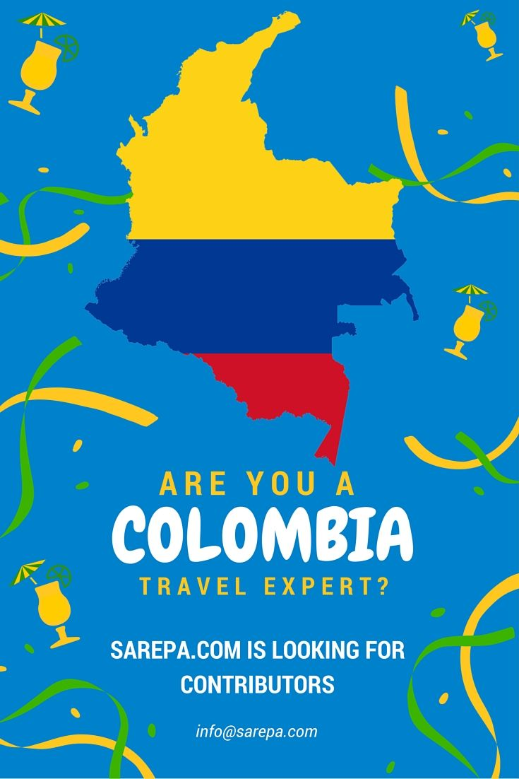 Are you a Colombia travel expert? We're looking for contributors! www.sarepa.com