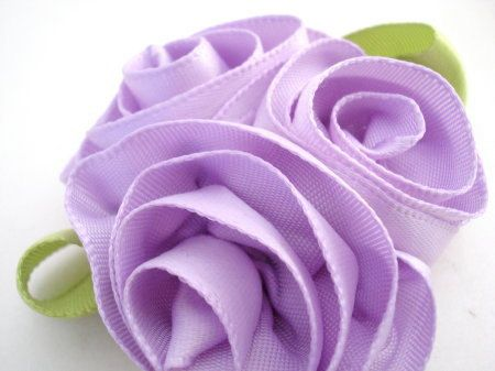 Small Triple Purple Satin Rose, No Slip Hair Clip by bowsweet on Etsy https://www.etsy.com/listing/97207190/small-triple-purple-satin-rose-no-slip