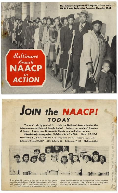 1944 NAACP pamphlet. JOIN to take ACTION (American History Museum)