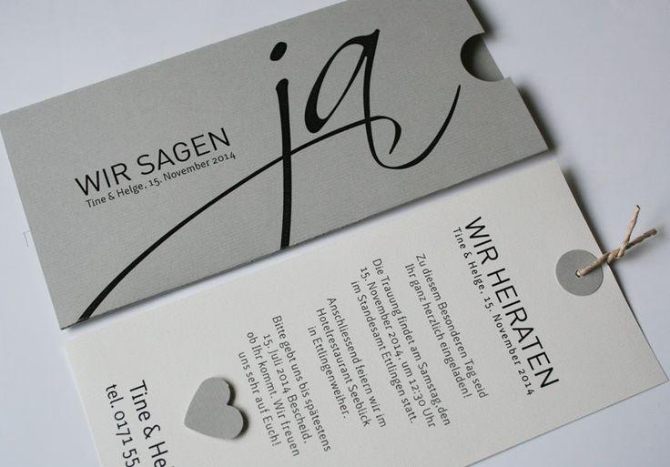Hochzeitskarte grau