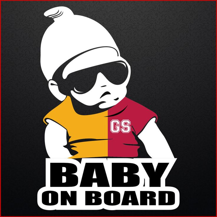 Baby on Board Galatasaray Auto Aufkleber in Klubfarben Wunschname Kind 20x14cm