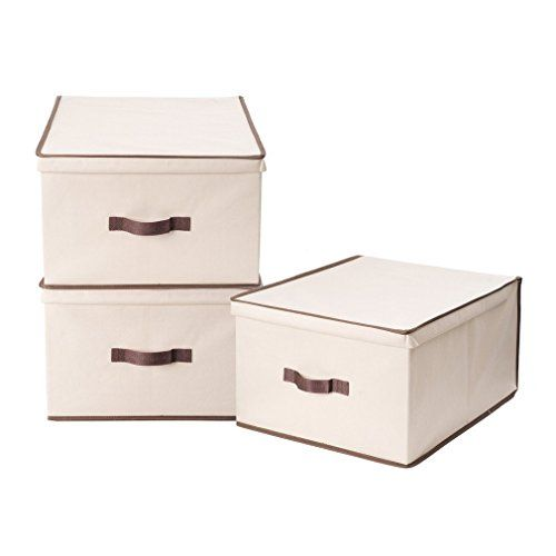 Special Offers - StorageManiac 3-Pack Jumbo Foldable Polyester Canvas Storage Box Convenient Storage Bin with Lid - In stock & Free Shipping. You can save more money! Check It (June 04 2016 at 03:43AM) >> http://garagecabinetusa.net/storagemaniac-3-pack-jumbo-foldable-polyester-canvas-storage-box-convenient-storage-bin-with-lid/
