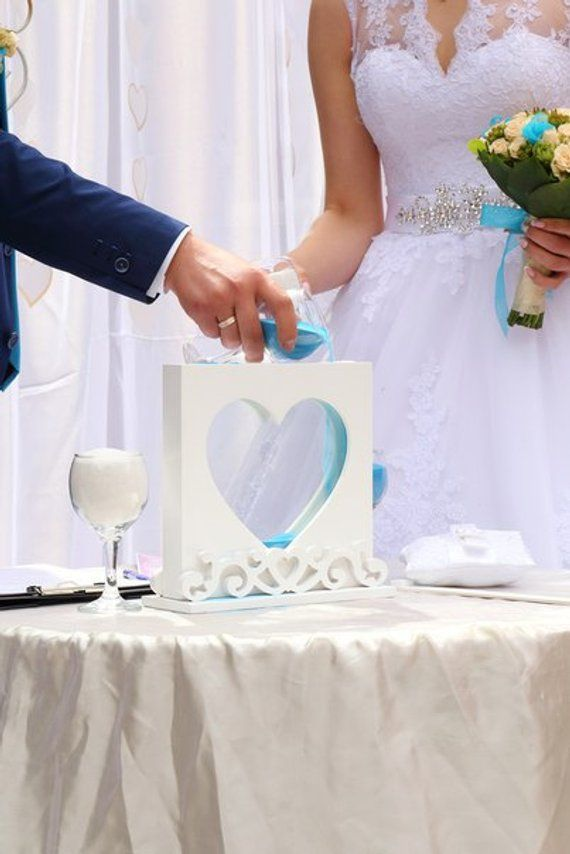 Wedding Sand Ceremony Heart Frame Unity Shadow Sand Ceremony Box