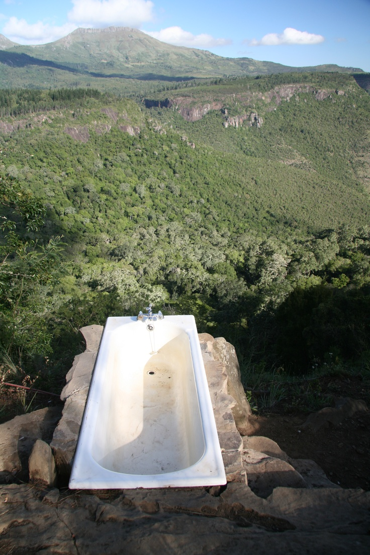 Bath with a view... beautiful Yellow wood forests of Hogsback in the Eastern Cape  of South Africa