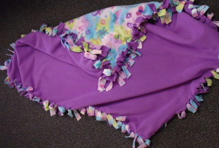 27 Best Fleece Tied Blankets Images On Pinterest No Sew
