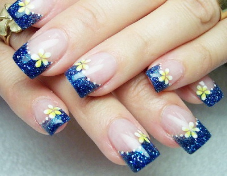 blue saphire nails for birthday