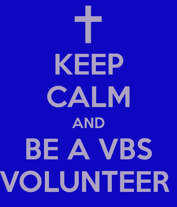 womens designer fashion KEEP CALM AND BE A VBS VOLUNTEER  VBSprops