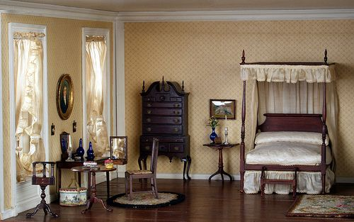 Thorne Rooms via Flickr, New England Bedroom 1770