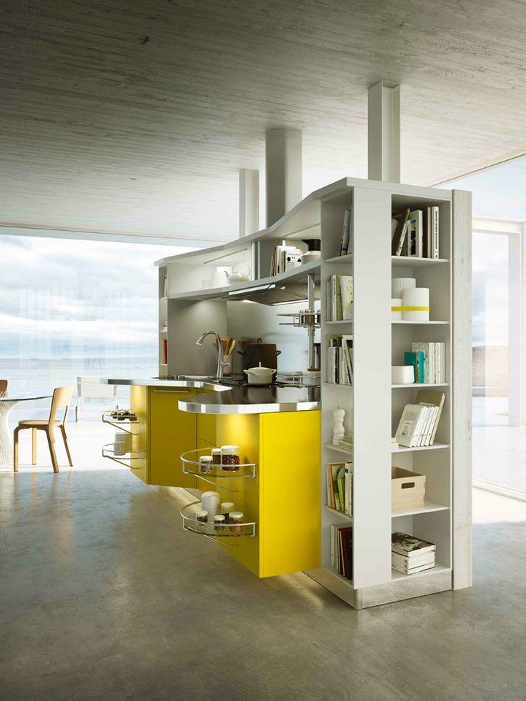 Fitted #kitchen SKYLINE 2.0 by Snaidero   #design Lucci Orlandini Design @Christy Polek Santiago R. Snaidero Cucine