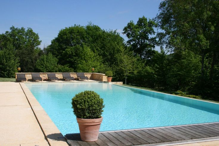 The beautiful outdoor swimming pool at La Villa Romaine, in Aquitaine #France #swimmingpool #hotel