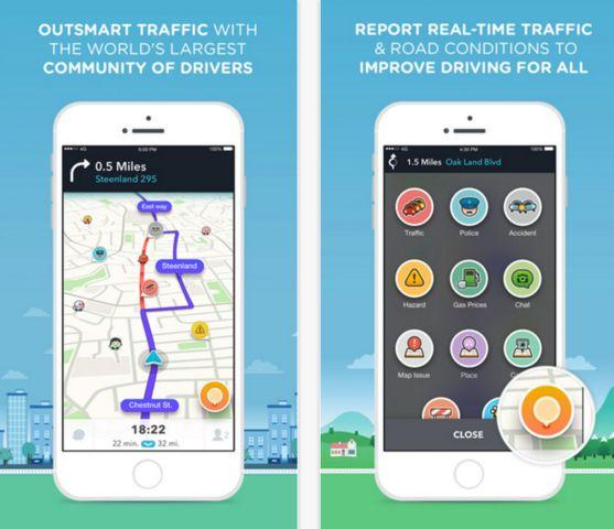 best new apps for iphone waze app screenshot