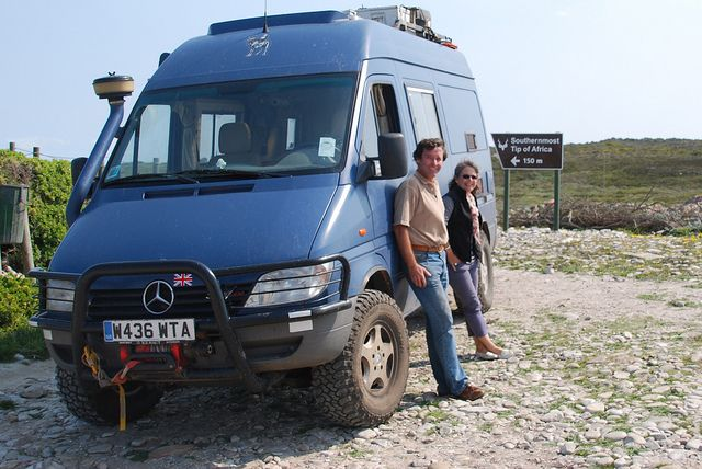 Rory and Lucy Macdiarmid's customized Sprinter 4x4 van, an Iglhaut Allrad on a T1N Sprinter chassis. All the way across Africa!