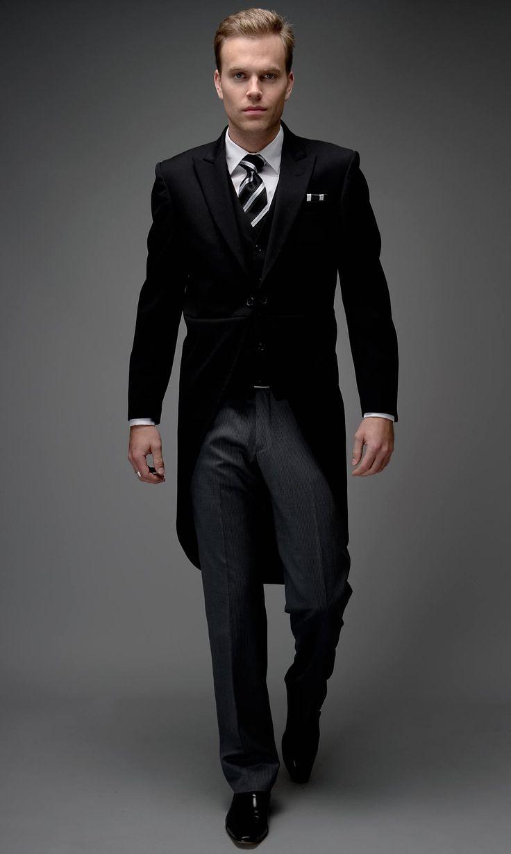 Black Morning Slim Coat from FormalRed.com.au