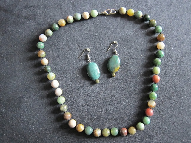 Multi-Coloured Jasper - Round Bead Necklace