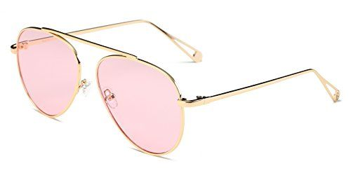 fed3901e5b0 Cramilo Circle Retro Vintage Metal Frame Colored Lens Round Aviator  Sunglasses