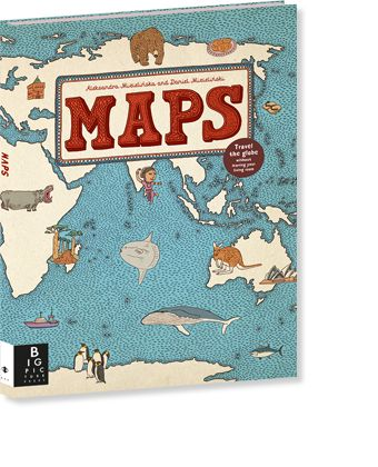 Maps by Aleksandra Mizielińska and Daniel Mizieliński  A celebration of the world, from its immense mountains to its tiny insects – and everything in between. Features fifty-two highly illustrated maps, full of detail and curiosities.