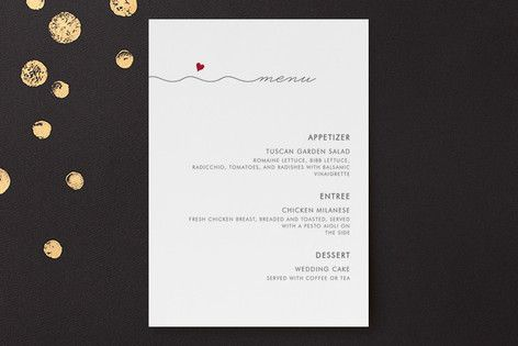 Love Connection Menu by Kim Dietrich Elam at minted.com