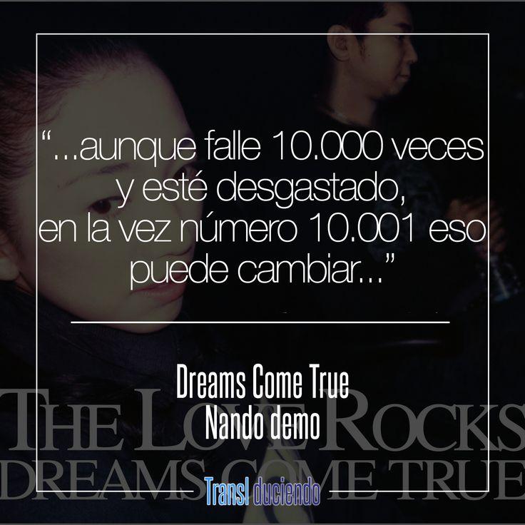Canción traducida: #DreamsComeTrue - #NandoDemo | #JPop #JMusic #TheLoveRocks Encuentra la letra completa en http://buff.ly/2j6gDw2