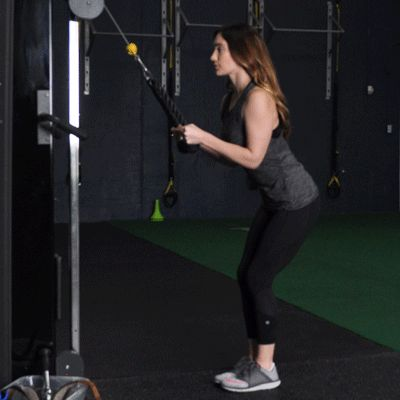 Pulley triceps extensions