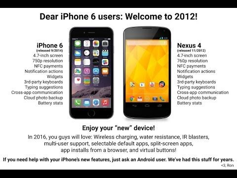Dear iPhone 6 users, welcome to 2012!