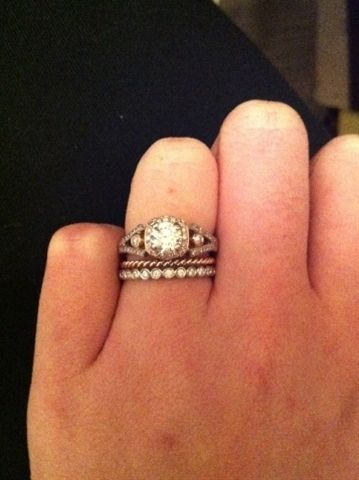 Vintage engagement ring. Finally something that might look nice with my art deco engagement ring.