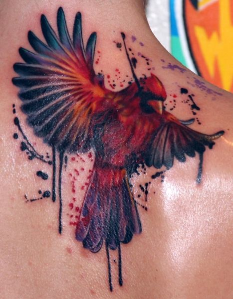 cardinal tattoo.... This is incredible