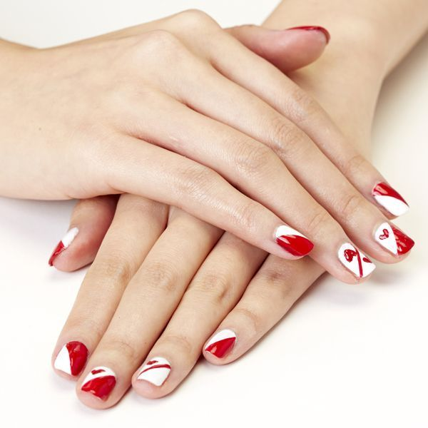 House Of Cards Queen Of Hearts Valentines Day Nail Art
