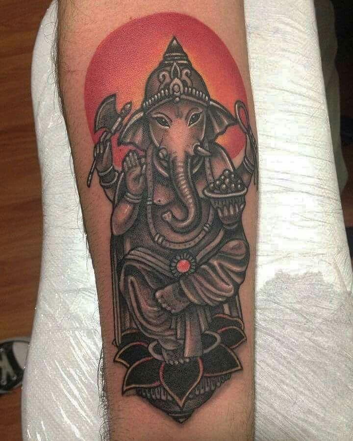 #tattooart #coverup #elephant #ganesh #colorgray #budist #sirak