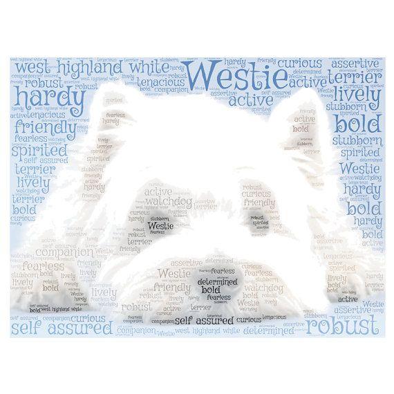 West Highland White Terriër word cloud print. Afgedrukt op goede kwaliteit 220gsm kaart.  De lettertjes kan gepersonaliseerd worden, ik namen datums en kleuren kunt toevoegen en kunt al mijn woorden, al uw eigen woorden of een combinatie van beide.  Het lettertype kan worden gewijzigd, een van de woorden kan ook worden gewijzigd.  Ik heb vele andere woord wolken beschikbaar, dus vraag het ons als je wilt iets niet wordt weergegeven.  Als u maken van een wolk willen zou omhoog met behulp van…