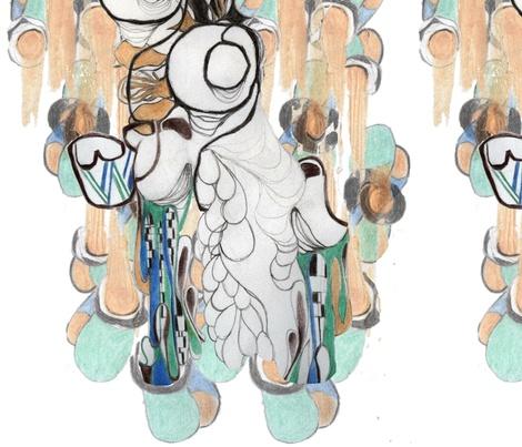 Rising swan fabric by babido on Spoonflower - custom fabric