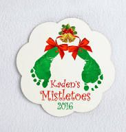 mistletoes baby footprint crafts - Google Search
