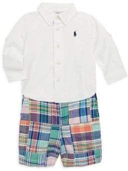81931b598701 Ralph Lauren Baby's Two-Piece Patchwork Shirt & Pants Set #ad  #shopstylecollective #kids #ralphlaurenkids