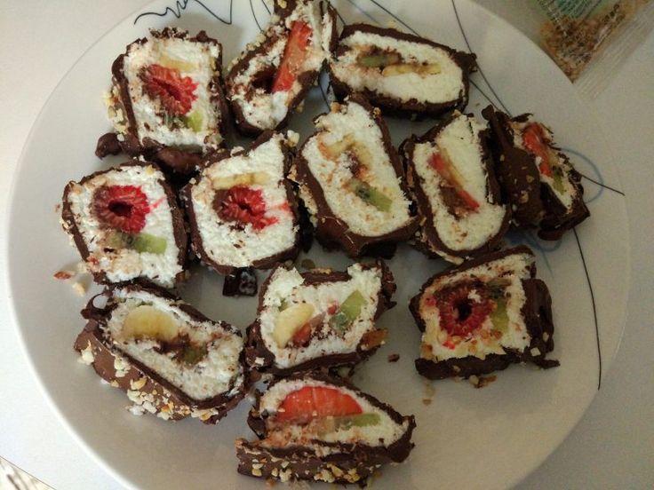 Sushi dolce light allo yogurt e cocco