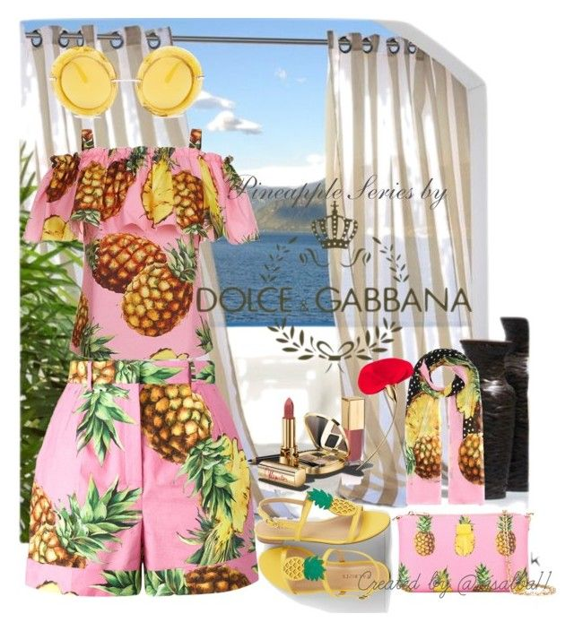 """Pineapple Summer"" by risalba on Polyvore featuring Dolce&Gabbana and Talbots"
