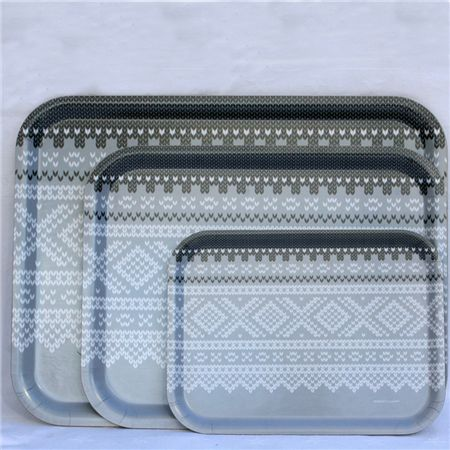 Norwegian sweater syled serving trays. #Want #Nordic