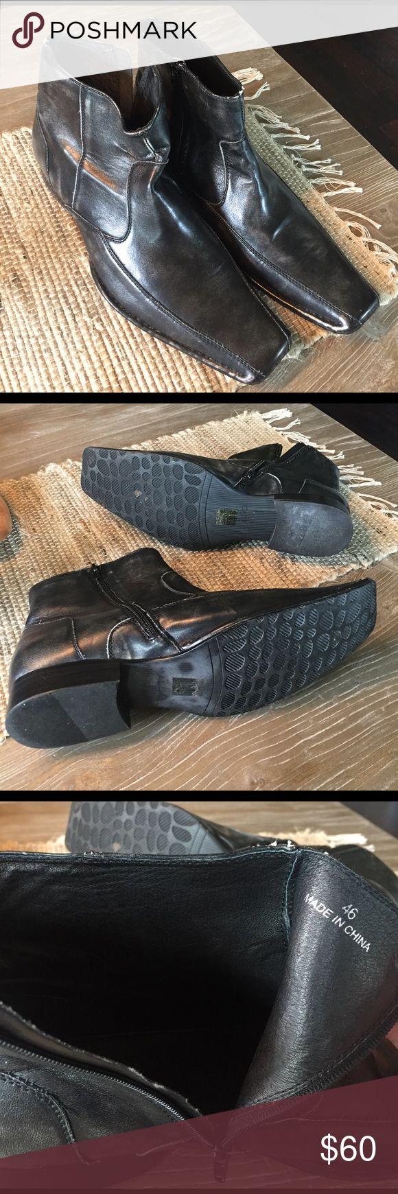 Aldo Leather European Dress Shoes Gently used - Excellent Condition - Size 46M (European) (12-13 US) Aldo Shoes Boots