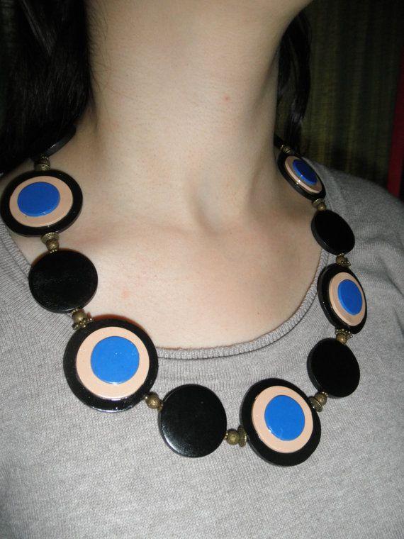 Grande collana di perline. Cerchio rotondo di HanDesign1987