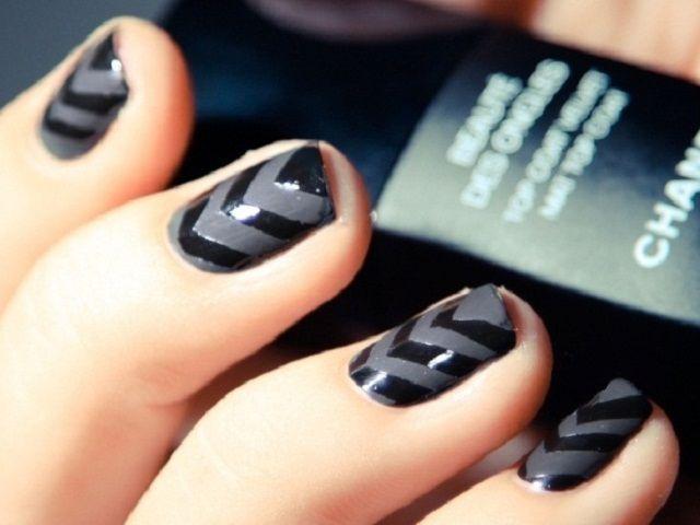 simple matte nail art design