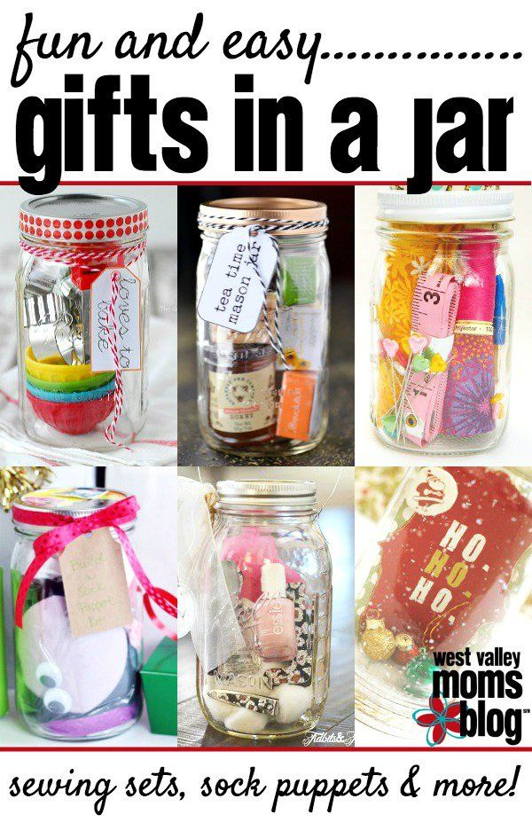 Easy gifts in a jar gift Easy gift ideas for friends