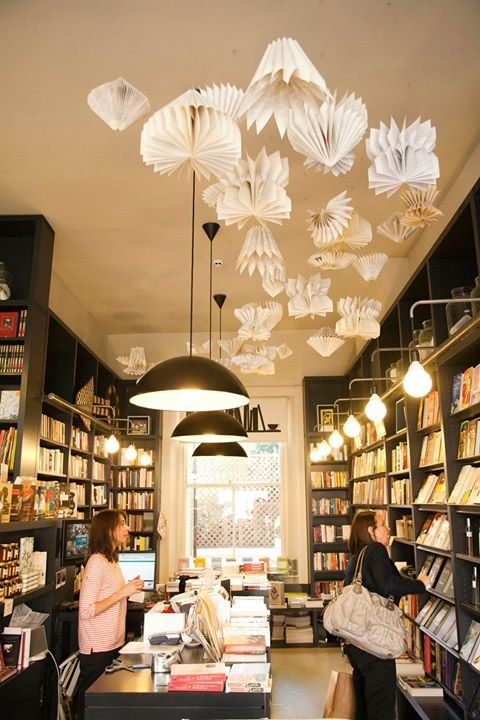 Bookstore... artwork from paper and books
