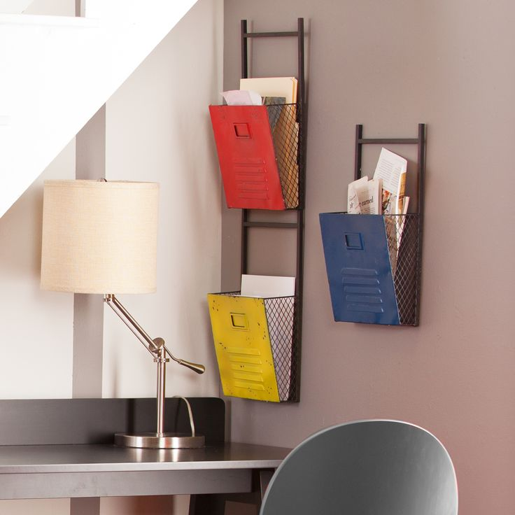 office racks for walls. modren racks schoolu0027s in session with the houtes set of lockerinspired wall mounted  file holders place these brightly colored holders your office or use them  throughout office racks for walls k