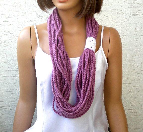 Crochet chain scarf crochet womens chain scarf by KnitterPrincess, $11.50