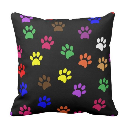 Pawprint, paw prints cat luxury cushion pillow #Cats #Cushions