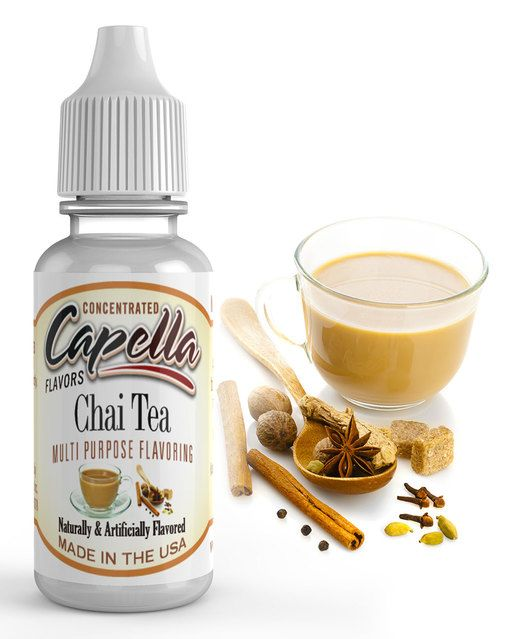 Chai Tea Flavor Concentrate by Capella Flavors. Capella Flavor Drops: over 90 unique flavor concentrates. Zero fats, calories or sweeteners! Great for baking, skinny cocktails, diabetics, athletes,  & more.